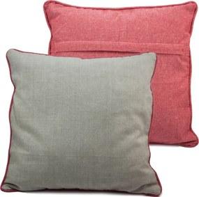 Home Elements Povlak na vankúš z recyklovanej bavlny, 2 ks, 40 x 40 cm, béžovo červená