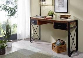 Masiv24 - INDUSTRY Písací stôl 135x50 cm, staré drevo