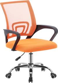 Kancelárska stolička, oranžová/čierna/chróm, DEX 2 NEW