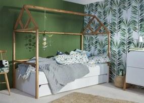 PROXIMA.store - Štýlová detská posteľ LOTTA so šuflíkom - biela - 90x200