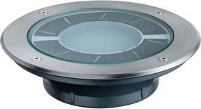 Vonkajšie podhľadové svietidlo PAULMANN Zemní zápustné svítidlo Solar Pandora LED ušlecht.ocel 1ks 93776