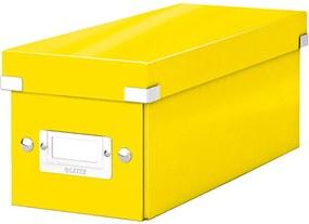 Žltá úložná škatuľa s vekom Leitz CD Disc, dĺžka 35 cm
