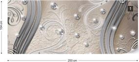 Fototapeta GLIX - Silver And Beige Swirl  + lepidlo ZADARMO Vliesová tapeta  - 250x104 cm