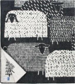 Vlnená deka Päkäpäät 130x180, čierna Lapuan Kankurit