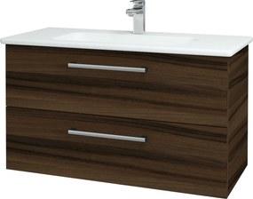 Dřevojas - Koupelnová skříň GIO SZZ2 100 - D06 Ořech / Úchytka T03 / D06 Ořech (130671C)