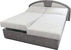 Sconto Polohovacia posteľ ANETA sivá, 180x200 cm