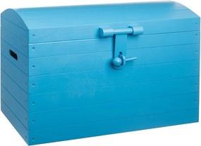Drevobox Drevená truhlica modrá