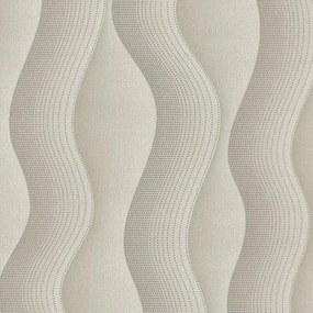 Vliesové tapety, vlnovky hnedé, Studio Line 242740, P+S International, rozmer 10,05 m x 0,53 m
