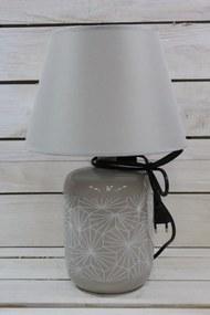 Lampa - sivo-biela (v. 40 cm)