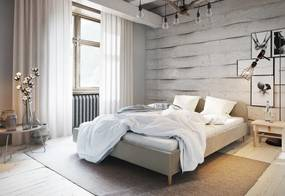 Čalúnená posteľ LOFT, 120x200, itaka 16 + rošt + penový matrac 14cm