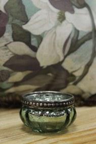 Zelené skielka na čajovú sviečku 4-set 6cm