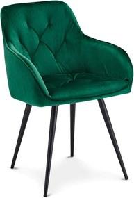 Luxusná jedálenská stolička Aegis, zelená