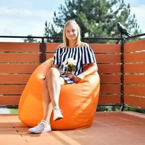 EMI Sedací vak hruška ekokoža oranžová 335 litrov
