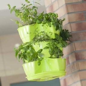 Kvetináč na bylinky Coubi 3 poschodia, závesný, zelená