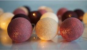 Svietiaca reťaz Irislights Dusty Pink, 20 svetielok