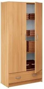 Skriňa policová 2 dvere + 1 zásuvka BEST buk