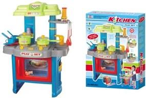 G21 Hračka Detská kuchynka DELICACY s príslušenstvom, modrá