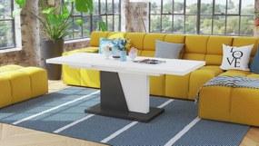 NOIR biely / antracit, rozkladací, konferenčný stôl, stolík