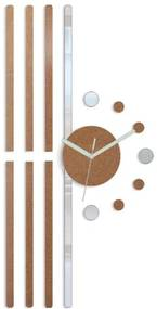 Mazur 3D nalepovací hodiny Line měděné