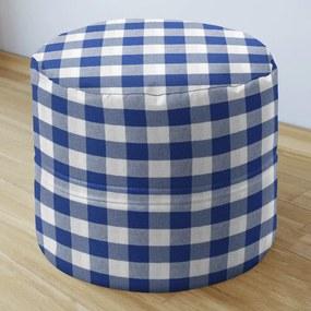 Goldea sedacie bobek 50x40cm - menorca - vzor veľké modré a biele kocky 50 x 40 cm
