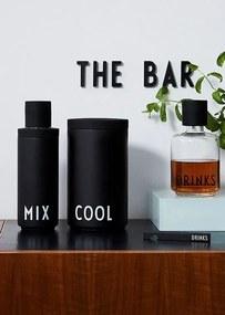 DESIGN LETTERS Štýlový shaker Mix Black