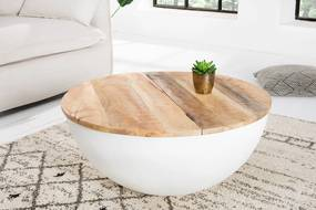 Bighome - Konferenčný stolík INDUSTRY 70 cm - biela