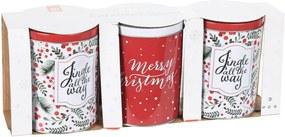 Excellent Houseware Plechové dózy Merry Christmas, 3 ks