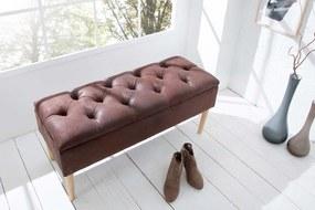 Dizajnová lavica Queen kávová hnedá