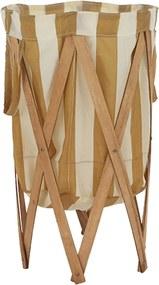 Skládací kôš na prádlo, svetlo hnedá, DZIMBO 2