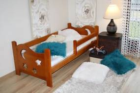 Detská posteľ SEVERYN, jelša-lak, 70x160cm