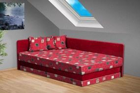Nabytekmorava Čalúnená posteľ Robin 120x200 cm farba čalounění: červená