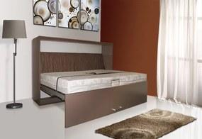 Sklápacia posteľ VS1056P, 200x90cm lamino: bílá, nosnost postele: standardní nosnost