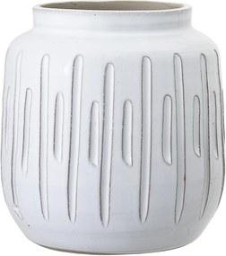Bloomingville Dekoratívna váza White Terracotta