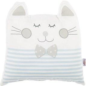 Modrý detský vankúšik s prímesou bavlny Apolena Pillow Toy Big Cat, 29 x 29 cm
