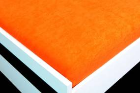 HoD Napínacia plachta Froté+ Oranžová Bavlna Veľkosť: 90 x 200