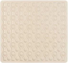 Béžová protišmyková kúpeľňová podložka Wenko Rocha, 54 × 52 cm