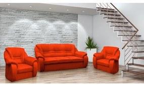 Set pohovka + 2 kreslá ROMA Oranžová