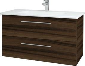 Dřevojas - Koupelnová skříň GIO SZZ2 100 - D06 Ořech / Úchytka T02 / D06 Ořech (130671B)