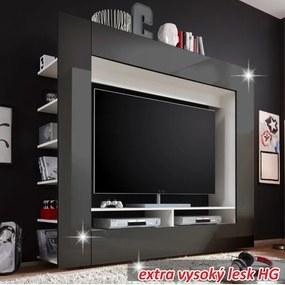 TEMPO KONDELA Medi obývacia stena čierna / biela