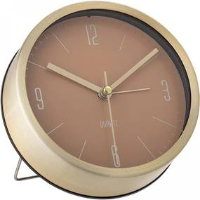 Bloomingville Stolné hodiny Gold&Nude Aluminium