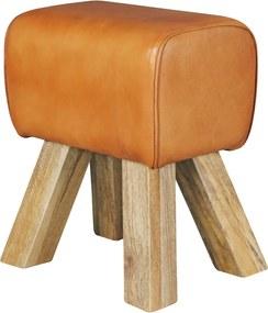 Stolička Riku, 47 cm, kozia koža