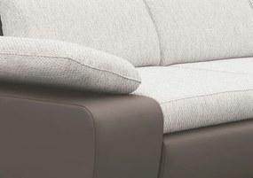 Rohová sedacia súprava Odessa 2F-OTM, šedá ekokoža/melírovaná tkanina