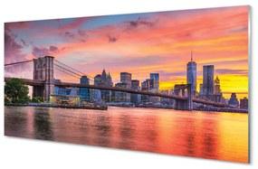 Nástenný panel most sunrise 140x70cm
