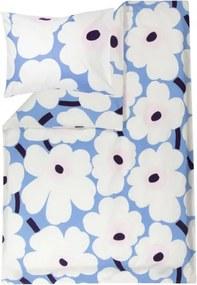 Obliečky Unikko 150x210 50x60, bavlnené, modro-ružové