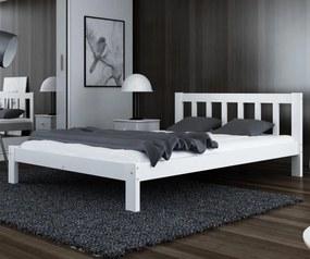 AMI nábytok Posteľ Alena biela 140x200 masív