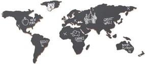 LUCKIES Kriedová tabuľa mapa sveta