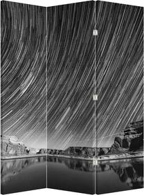 Paraván - Čiernobiela hviezdna obloha (135 x 180 cm)