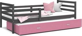 GL Racek P2 posteľ s prístelkou Color sivá - viac farieb Farba: Ružová, Rozmer: 190x80