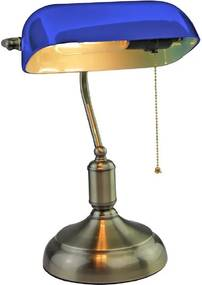 Banker's lamp Blue