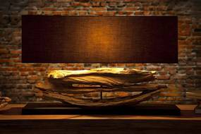 Masiv24 - Stolná lampa ACAMAR - čierna
